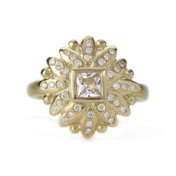 Bella Ring - 18ct Gold, Diamonds & Sapphire