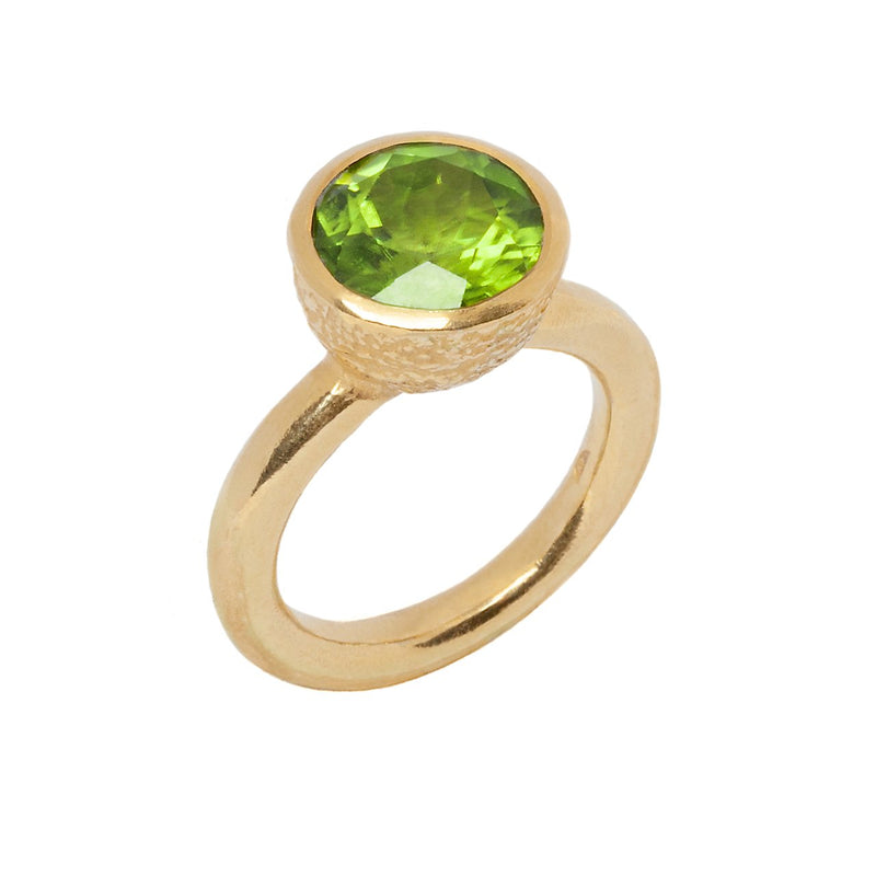 Behrianna Cocktail Ring - 10mm Peridot - Gold
