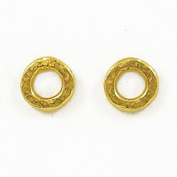 Virtuous Circle Stud Earrings - Gold