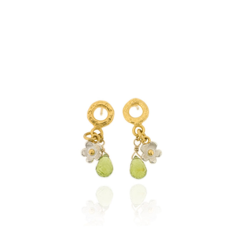 Marguerite Eternal Drop Earrings - Peridot