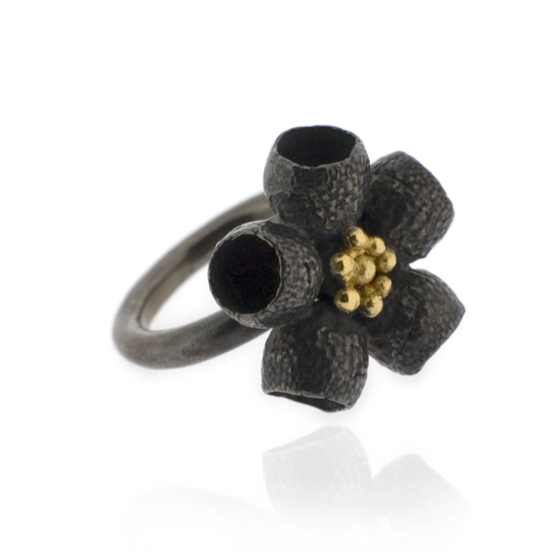 Ophelia Ring - Black Gold