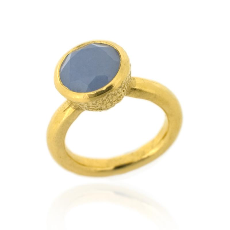 Behrianna Cocktail Ring - 10mm Lavender Chalcedony - Gold