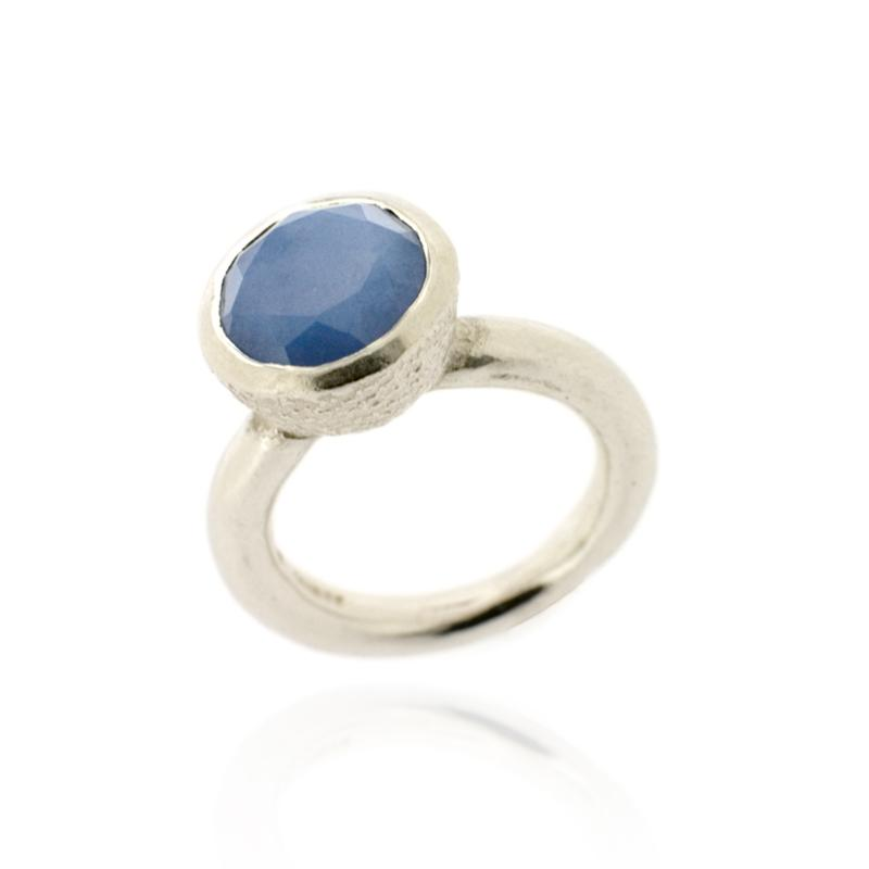 Behrianna Cocktail Ring - 10mm Lavender Chalcedony - Silver