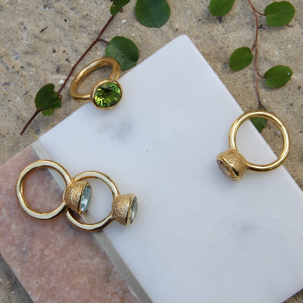 Behrianna Cocktail Ring - Peridot - Gold