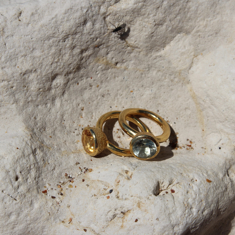 Behrianna Cocktail Ring - 10mm Citrine  - Gold
