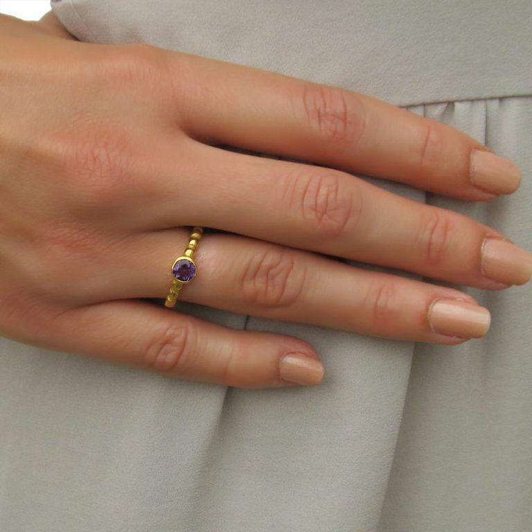 Thalia Ring - Iolite - Gold