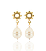 Casia Drop Earrings - Large Baroque Pearl - Gold