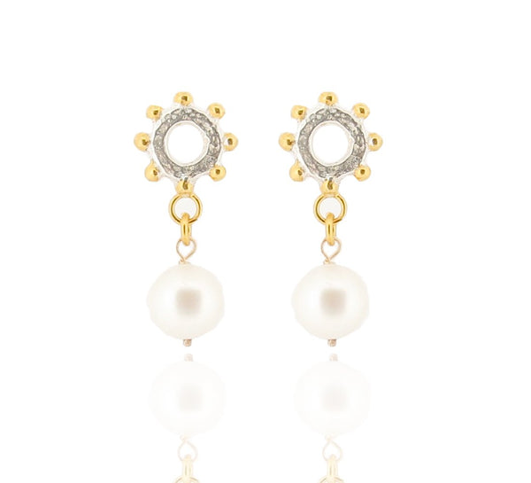 Casia Drop Earrings - Fresh Water Pearl