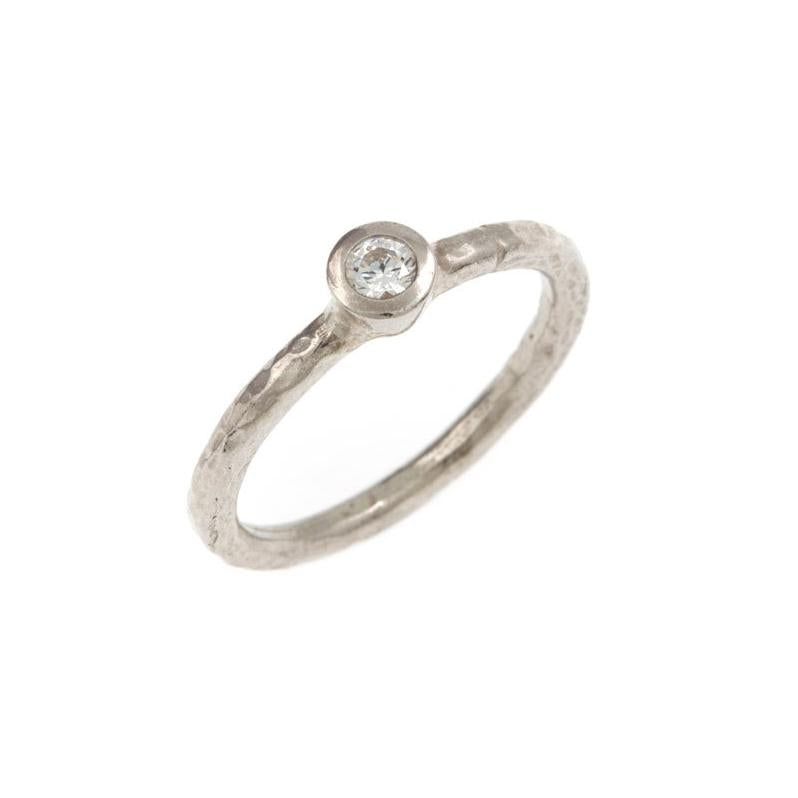 Laria Tiny Diamond Ring - 18ct White Gold