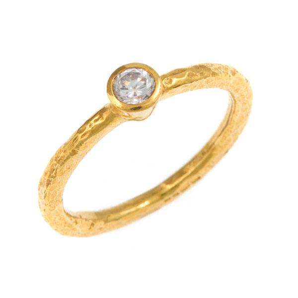 Laria Tiny Diamond Ring - 18ct Gold