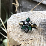 Heloise Ring - Emeralds & White Topaz