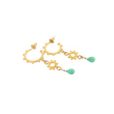 Cleo Hoop Earrings - Chrysoprase - Gold