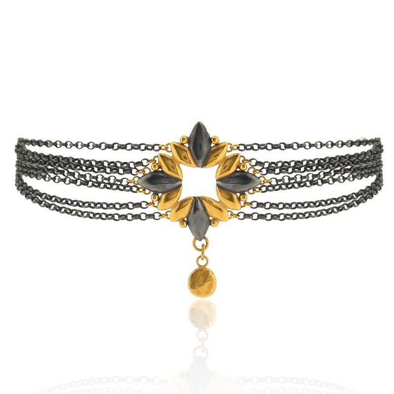Lys Choker - Black & Gold