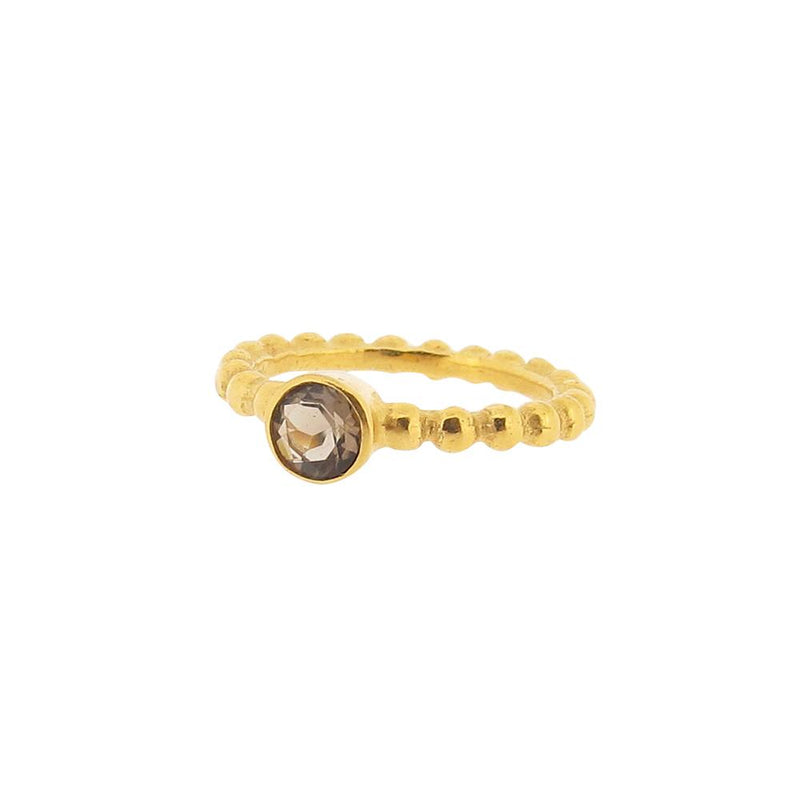 Thalia Ring - Smoky Quartz- Gold