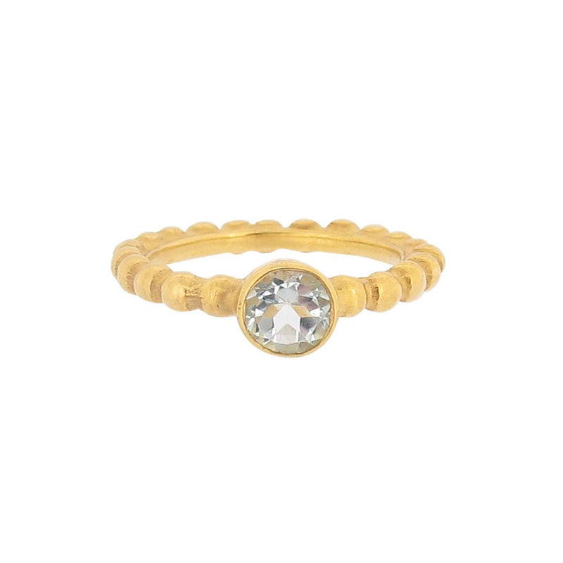 Thalia Ring - Blue Topaz- Gold