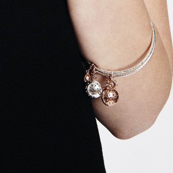 Selene Charm Bangle- Gold