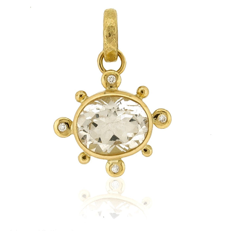 Alanna Pendant - 18ct - Topaz & Diamonds