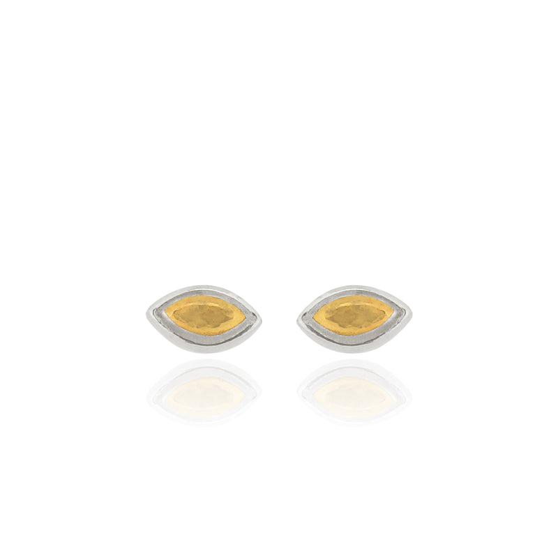 Edrie - Marquise - Stud Earrings - Silver