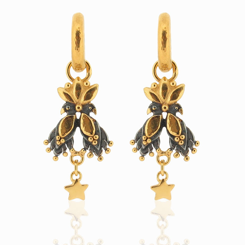 Mini Royal Night Guardians On Neo Hoops - Earrings