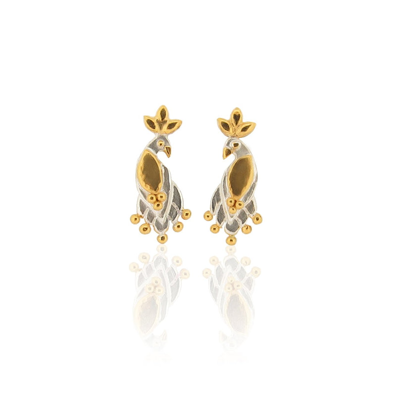 Mini Royal Birds - Stud Earrings