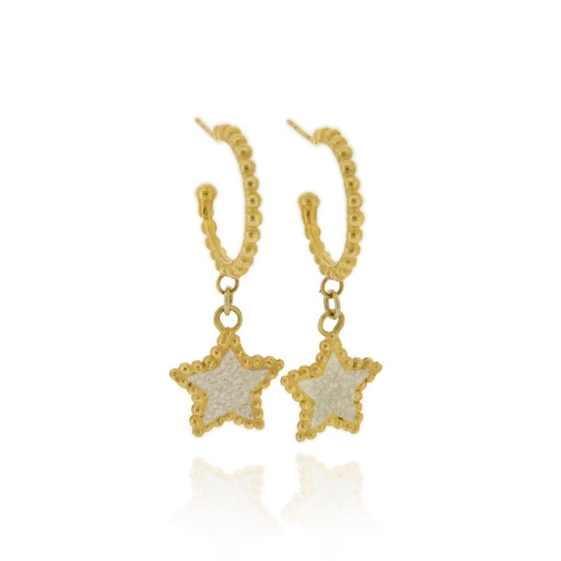 Hespe Star Hoop Earrings