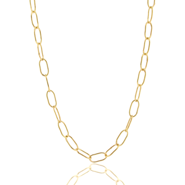 Oval Florentine Handmade Chain - 18ct Gold