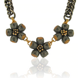 GOLDEN OPHELIA - NECKLACE - CITRINES - BLACK