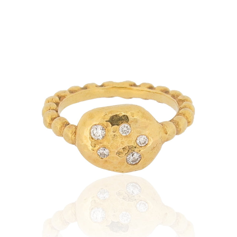 Spartan Ring - 9ct Gold & Diamonds