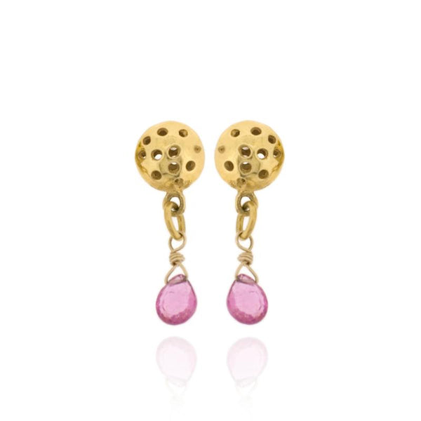Alena Drop Earrings - Pink Tourmaline