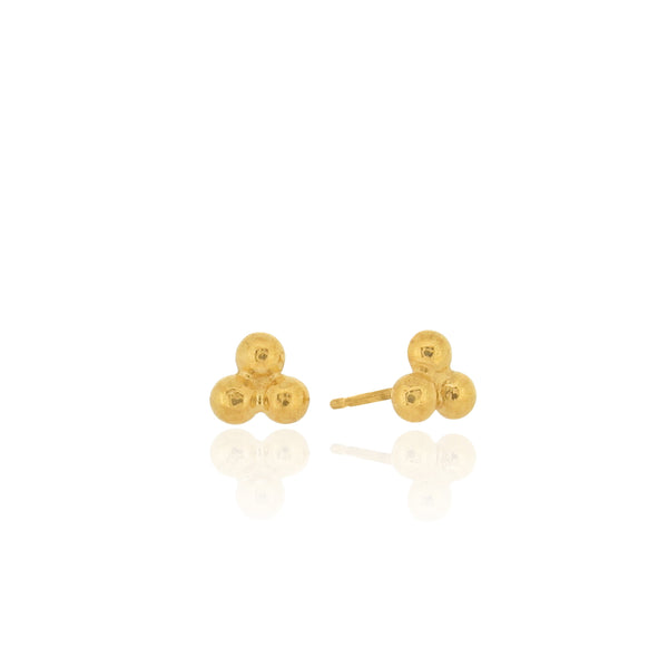 Trinity - Stud Earrings - Gold