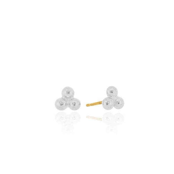 Trinity- Stud Earrings- Silver
