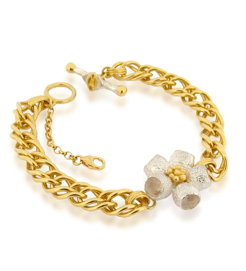 Ophelia Bracelet - Double French Curb- Gold