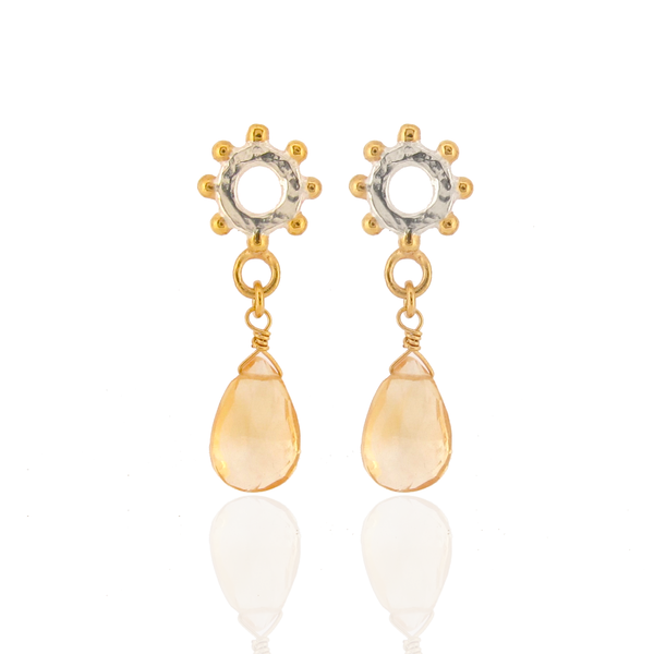 The Jo Good Casia Drop Earrings - Citrine