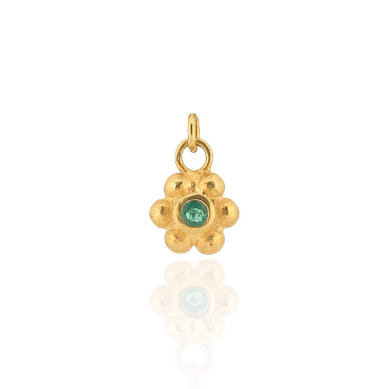Grace Charm - Gold - Emerald