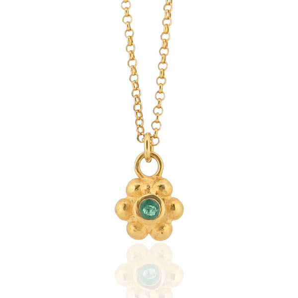 Grace Pendant - Gold - Emerald