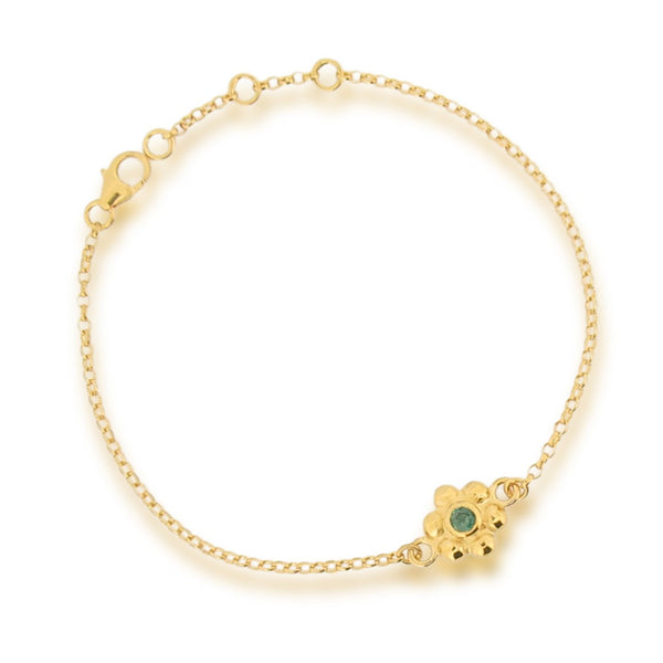 Grace Bracelet - Emerald - Gold