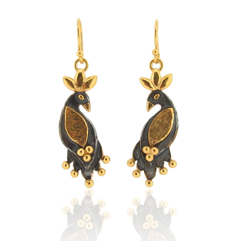 Night Royal Birds - Drop Earrings
