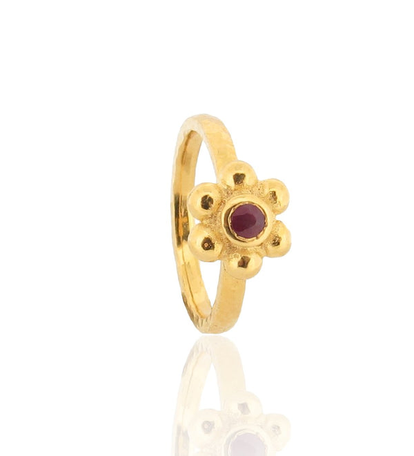 Grace Ring - Gold - Ruby