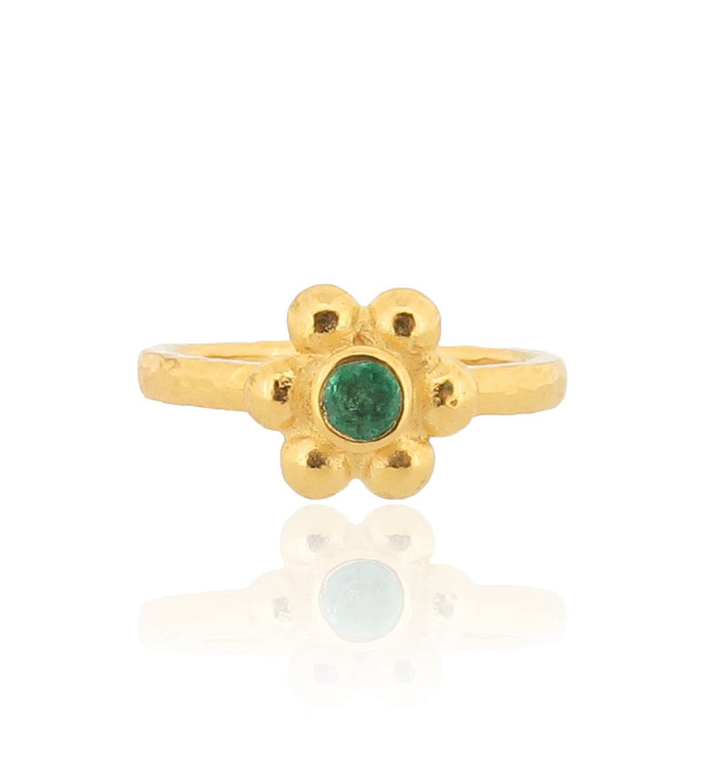 Grace Ring - Gold - Emerald