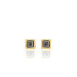 Edrie - Square Stud Earrings - Black