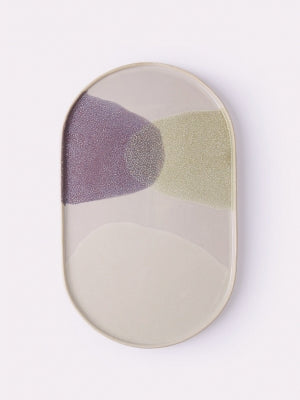 Gallery Dinner Plate - green/lilac