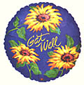 Get Well Sunflower Balloon