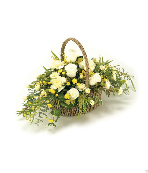Basket Yellow and White