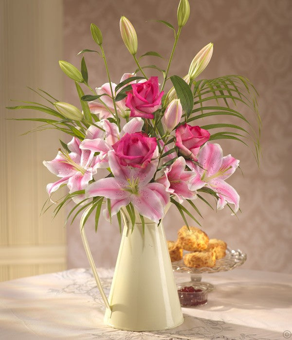 Lily and Rose Jug