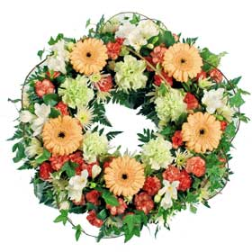 Loose Classic Funeral Wreath
