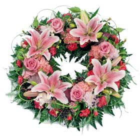 Pink Loose Wreath