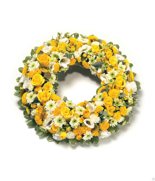 Wreath - Yellow & White