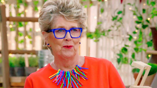 prue leith from the great British bake off