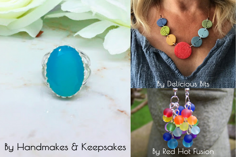 fun bright coloured jewellery from etsy shops