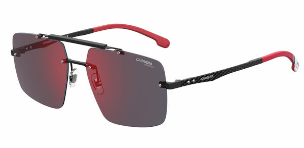 Carrera Sunglasses 61-17-145 Large Size Carrera 8034 Special Edition Carbon Fiber Alfa Romeo Rimless Sunglasses - Alfisti